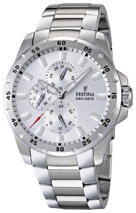Festina F16662.1 - мужские наручные часы из коллекции MultifunctionFestina<br><br><br>Бренд: Festina<br>Модель: Festina F16662/1<br>Артикул: F16662.1<br>Вариант артикула: None<br>Коллекция: Multifunction<br>Подколлекция: None<br>Страна: Испания<br>Пол: мужские<br>Тип механизма: кварцевые<br>Механизм: M6P27<br>Количество камней: None<br>Автоподзавод: None<br>Источник энергии: от батарейки<br>Срок службы элемента питания: None<br>Дисплей: стрелки<br>Цифры: отсутствуют<br>Водозащита: WR 100<br>Противоударные: None<br>Материал корпуса: нерж. сталь<br>Материал браслета: нерж. сталь<br>Материал безеля: None<br>Стекло: минеральное<br>Антибликовое покрытие: None<br>Цвет корпуса: None<br>Цвет браслета: None<br>Цвет циферблата: None<br>Цвет безеля: None<br>Размеры: 45x12 мм<br>Диаметр: None<br>Диаметр корпуса: None<br>Толщина: None<br>Ширина ремешка: None<br>Вес: 177 г<br>Спорт-функции: None<br>Подсветка: стрелок<br>Вставка: None<br>Отображение даты: число, день недели<br>Хронограф: None<br>Таймер: None<br>Термометр: None<br>Хронометр: None<br>GPS: None<br>Радиосинхронизация: None<br>Барометр: None<br>Скелетон: None<br>Дополнительная информация: None<br>Дополнительные функции: None