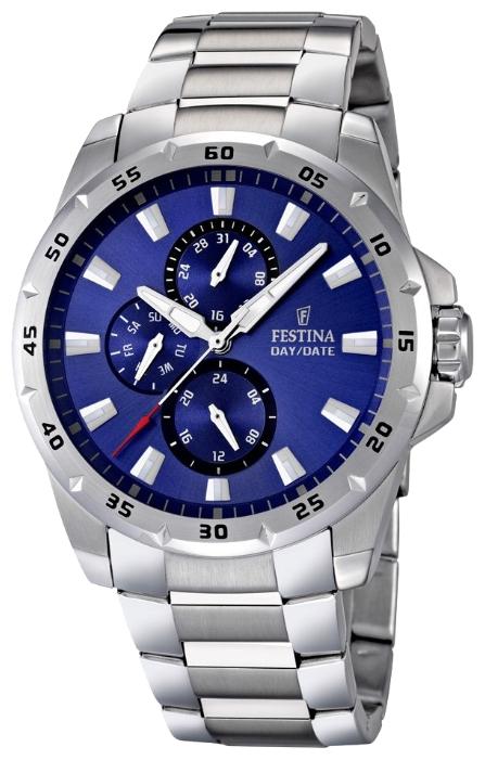 Festina F16662.4 - мужские наручные часы из коллекции MultifunctionFestina<br><br><br>Бренд: Festina<br>Модель: Festina F16662/4<br>Артикул: F16662.4<br>Вариант артикула: None<br>Коллекция: Multifunction<br>Подколлекция: None<br>Страна: Испания<br>Пол: мужские<br>Тип механизма: кварцевые<br>Механизм: M6P27<br>Количество камней: None<br>Автоподзавод: None<br>Источник энергии: от батарейки<br>Срок службы элемента питания: None<br>Дисплей: стрелки<br>Цифры: отсутствуют<br>Водозащита: WR 100<br>Противоударные: None<br>Материал корпуса: нерж. сталь<br>Материал браслета: нерж. сталь<br>Материал безеля: None<br>Стекло: минеральное<br>Антибликовое покрытие: None<br>Цвет корпуса: None<br>Цвет браслета: None<br>Цвет циферблата: None<br>Цвет безеля: None<br>Размеры: 45x12 мм<br>Диаметр: None<br>Диаметр корпуса: None<br>Толщина: None<br>Ширина ремешка: None<br>Вес: 177 г<br>Спорт-функции: None<br>Подсветка: стрелок<br>Вставка: None<br>Отображение даты: число, день недели<br>Хронограф: None<br>Таймер: None<br>Термометр: None<br>Хронометр: None<br>GPS: None<br>Радиосинхронизация: None<br>Барометр: None<br>Скелетон: None<br>Дополнительная информация: None<br>Дополнительные функции: None