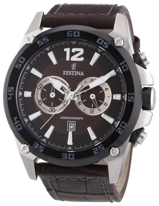 Festina F16673.6 - мужские наручные часы из коллекции SportFestina<br><br><br>Бренд: Festina<br>Модель: Festina F16673/6<br>Артикул: F16673.6<br>Вариант артикула: None<br>Коллекция: Sport<br>Подколлекция: None<br>Страна: Испания<br>Пол: мужские<br>Тип механизма: кварцевые<br>Механизм: M0S21<br>Количество камней: None<br>Автоподзавод: None<br>Источник энергии: от батарейки<br>Срок службы элемента питания: None<br>Дисплей: стрелки<br>Цифры: арабские<br>Водозащита: WR 100<br>Противоударные: None<br>Материал корпуса: нерж. сталь, частичное покрытие корпуса<br>Материал браслета: кожа<br>Материал безеля: None<br>Стекло: минеральное<br>Антибликовое покрытие: None<br>Цвет корпуса: None<br>Цвет браслета: None<br>Цвет циферблата: None<br>Цвет безеля: None<br>Размеры: 47 мм<br>Диаметр: None<br>Диаметр корпуса: None<br>Толщина: None<br>Ширина ремешка: None<br>Вес: None<br>Спорт-функции: секундомер<br>Подсветка: стрелок<br>Вставка: None<br>Отображение даты: число<br>Хронограф: есть<br>Таймер: None<br>Термометр: None<br>Хронометр: None<br>GPS: None<br>Радиосинхронизация: None<br>Барометр: None<br>Скелетон: None<br>Дополнительная информация: None<br>Дополнительные функции: None