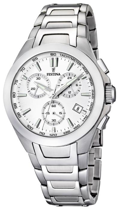 Festina F16678.1 - мужские наручные часы из коллекции DreamFestina<br><br><br>Бренд: Festina<br>Модель: Festina F16678/1<br>Артикул: F16678.1<br>Вариант артикула: None<br>Коллекция: Dream<br>Подколлекция: None<br>Страна: Испания<br>Пол: мужские<br>Тип механизма: кварцевые<br>Механизм: MJS05<br>Количество камней: None<br>Автоподзавод: None<br>Источник энергии: от батарейки<br>Срок службы элемента питания: None<br>Дисплей: стрелки<br>Цифры: отсутствуют<br>Водозащита: WR 50<br>Противоударные: None<br>Материал корпуса: нерж. сталь<br>Материал браслета: нерж. сталь<br>Материал безеля: None<br>Стекло: минеральное<br>Антибликовое покрытие: None<br>Цвет корпуса: None<br>Цвет браслета: None<br>Цвет циферблата: None<br>Цвет безеля: None<br>Размеры: 42x14 мм<br>Диаметр: None<br>Диаметр корпуса: None<br>Толщина: None<br>Ширина ремешка: None<br>Вес: None<br>Спорт-функции: секундомер<br>Подсветка: стрелок<br>Вставка: None<br>Отображение даты: число<br>Хронограф: есть<br>Таймер: None<br>Термометр: None<br>Хронометр: None<br>GPS: None<br>Радиосинхронизация: None<br>Барометр: None<br>Скелетон: None<br>Дополнительная информация: None<br>Дополнительные функции: None