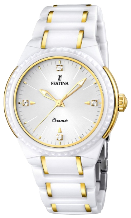 Festina F16698.2 - женские наручные часы из коллекции CeramicFestina<br><br><br>Бренд: Festina<br>Модель: Festina F16698/2<br>Артикул: F16698.2<br>Вариант артикула: None<br>Коллекция: Ceramic<br>Подколлекция: None<br>Страна: Испания<br>Пол: женские<br>Тип механизма: кварцевые<br>Механизм: M2035<br>Количество камней: None<br>Автоподзавод: None<br>Источник энергии: от батарейки<br>Срок службы элемента питания: None<br>Дисплей: стрелки<br>Цифры: отсутствуют<br>Водозащита: WR 50<br>Противоударные: None<br>Материал корпуса: нерж. сталь + керамика, PVD покрытие (частичное)<br>Материал браслета: нерж. сталь + керамика, PVD покрытие (частичное)<br>Материал безеля: None<br>Стекло: минеральное<br>Антибликовое покрытие: None<br>Цвет корпуса: None<br>Цвет браслета: None<br>Цвет циферблата: None<br>Цвет безеля: None<br>Размеры: 38 мм<br>Диаметр: None<br>Диаметр корпуса: None<br>Толщина: None<br>Ширина ремешка: None<br>Вес: None<br>Спорт-функции: None<br>Подсветка: стрелок<br>Вставка: None<br>Отображение даты: None<br>Хронограф: None<br>Таймер: None<br>Термометр: None<br>Хронометр: None<br>GPS: None<br>Радиосинхронизация: None<br>Барометр: None<br>Скелетон: None<br>Дополнительная информация: None<br>Дополнительные функции: None