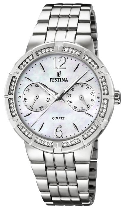 Festina F16700.1 - женские наручные часы из коллекции MultifunctionFestina<br><br><br>Бренд: Festina<br>Модель: Festina F16700/1<br>Артикул: F16700.1<br>Вариант артикула: None<br>Коллекция: Multifunction<br>Подколлекция: None<br>Страна: Испания<br>Пол: женские<br>Тип механизма: кварцевые<br>Механизм: M2P25<br>Количество камней: None<br>Автоподзавод: None<br>Источник энергии: от батарейки<br>Срок службы элемента питания: None<br>Дисплей: стрелки<br>Цифры: арабские<br>Водозащита: WR 50<br>Противоударные: None<br>Материал корпуса: нерж. сталь<br>Материал браслета: нерж. сталь<br>Материал безеля: None<br>Стекло: минеральное<br>Антибликовое покрытие: None<br>Цвет корпуса: None<br>Цвет браслета: None<br>Цвет циферблата: None<br>Цвет безеля: None<br>Размеры: 36 мм<br>Диаметр: None<br>Диаметр корпуса: None<br>Толщина: None<br>Ширина ремешка: None<br>Вес: None<br>Спорт-функции: None<br>Подсветка: стрелок<br>Вставка: None<br>Отображение даты: число, день недели<br>Хронограф: None<br>Таймер: None<br>Термометр: None<br>Хронометр: None<br>GPS: None<br>Радиосинхронизация: None<br>Барометр: None<br>Скелетон: None<br>Дополнительная информация: None<br>Дополнительные функции: None