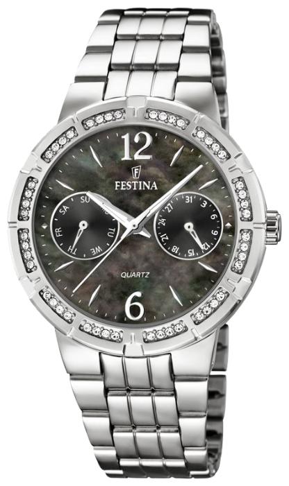 Festina F16700.2 - женские наручные часы из коллекции MultifunctionFestina<br><br><br>Бренд: Festina<br>Модель: Festina F16700/2<br>Артикул: F16700.2<br>Вариант артикула: None<br>Коллекция: Multifunction<br>Подколлекция: None<br>Страна: Испания<br>Пол: женские<br>Тип механизма: кварцевые<br>Механизм: M2P25<br>Количество камней: None<br>Автоподзавод: None<br>Источник энергии: от батарейки<br>Срок службы элемента питания: None<br>Дисплей: стрелки<br>Цифры: арабские<br>Водозащита: WR 50<br>Противоударные: None<br>Материал корпуса: нерж. сталь<br>Материал браслета: нерж. сталь<br>Материал безеля: None<br>Стекло: минеральное<br>Антибликовое покрытие: None<br>Цвет корпуса: None<br>Цвет браслета: None<br>Цвет циферблата: None<br>Цвет безеля: None<br>Размеры: 36 мм<br>Диаметр: None<br>Диаметр корпуса: None<br>Толщина: None<br>Ширина ремешка: None<br>Вес: None<br>Спорт-функции: None<br>Подсветка: стрелок<br>Вставка: None<br>Отображение даты: число, день недели<br>Хронограф: None<br>Таймер: None<br>Термометр: None<br>Хронометр: None<br>GPS: None<br>Радиосинхронизация: None<br>Барометр: None<br>Скелетон: None<br>Дополнительная информация: None<br>Дополнительные функции: None