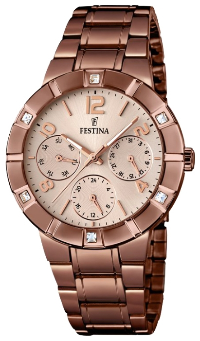 Festina F16710.1 - женские наручные часы из коллекции MultifunctionFestina<br><br><br>Бренд: Festina<br>Модель: Festina F16710/1<br>Артикул: F16710.1<br>Вариант артикула: None<br>Коллекция: Multifunction<br>Подколлекция: None<br>Страна: Испания<br>Пол: женские<br>Тип механизма: кварцевые<br>Механизм: M6P29<br>Количество камней: None<br>Автоподзавод: None<br>Источник энергии: от батарейки<br>Срок службы элемента питания: None<br>Дисплей: стрелки<br>Цифры: арабские<br>Водозащита: WR 50<br>Противоударные: None<br>Материал корпуса: нерж. сталь, PVD покрытие (полное)<br>Материал браслета: нерж. сталь, PVD покрытие (полное)<br>Материал безеля: None<br>Стекло: минеральное<br>Антибликовое покрытие: None<br>Цвет корпуса: None<br>Цвет браслета: None<br>Цвет циферблата: None<br>Цвет безеля: None<br>Размеры: 36 мм<br>Диаметр: None<br>Диаметр корпуса: None<br>Толщина: None<br>Ширина ремешка: None<br>Вес: None<br>Спорт-функции: None<br>Подсветка: стрелок<br>Вставка: циркон<br>Отображение даты: число, день недели<br>Хронограф: None<br>Таймер: None<br>Термометр: None<br>Хронометр: None<br>GPS: None<br>Радиосинхронизация: None<br>Барометр: None<br>Скелетон: None<br>Дополнительная информация: None<br>Дополнительные функции: None