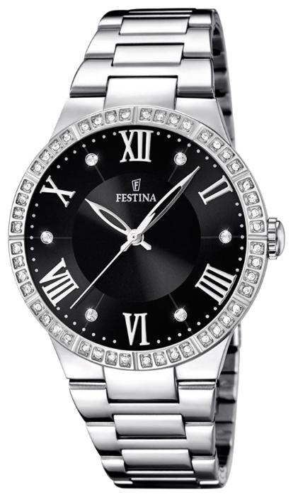 Festina F16719.2 - женские наручные часы из коллекции MademoiselleFestina<br><br><br>Бренд: Festina<br>Модель: Festina F16719/2<br>Артикул: F16719.2<br>Вариант артикула: None<br>Коллекция: Mademoiselle<br>Подколлекция: None<br>Страна: Испания<br>Пол: женские<br>Тип механизма: кварцевые<br>Механизм: M2035<br>Количество камней: None<br>Автоподзавод: None<br>Источник энергии: от батарейки<br>Срок службы элемента питания: None<br>Дисплей: стрелки<br>Цифры: римские<br>Водозащита: WR 50<br>Противоударные: None<br>Материал корпуса: нерж. сталь<br>Материал браслета: нерж. сталь<br>Материал безеля: None<br>Стекло: минеральное<br>Антибликовое покрытие: None<br>Цвет корпуса: None<br>Цвет браслета: None<br>Цвет циферблата: None<br>Цвет безеля: None<br>Размеры: 36.8 мм<br>Диаметр: None<br>Диаметр корпуса: None<br>Толщина: None<br>Ширина ремешка: None<br>Вес: None<br>Спорт-функции: None<br>Подсветка: None<br>Вставка: циркон<br>Отображение даты: None<br>Хронограф: None<br>Таймер: None<br>Термометр: None<br>Хронометр: None<br>GPS: None<br>Радиосинхронизация: None<br>Барометр: None<br>Скелетон: None<br>Дополнительная информация: None<br>Дополнительные функции: None