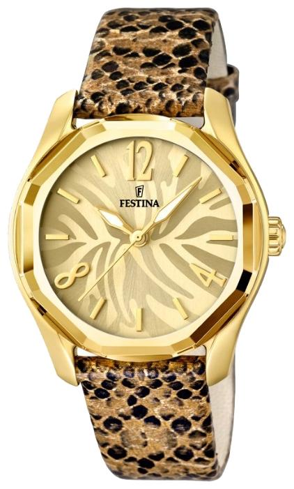 Festina F16738.1 - женские наручные часы из коллекции DreamtimeFestina<br><br><br>Бренд: Festina<br>Модель: Festina F16738/1<br>Артикул: F16738.1<br>Вариант артикула: None<br>Коллекция: Dreamtime<br>Подколлекция: None<br>Страна: Испания<br>Пол: женские<br>Тип механизма: кварцевые<br>Механизм: M2035<br>Количество камней: None<br>Автоподзавод: None<br>Источник энергии: от батарейки<br>Срок службы элемента питания: None<br>Дисплей: стрелки<br>Цифры: арабские<br>Водозащита: WR 50<br>Противоударные: None<br>Материал корпуса: нерж. сталь, PVD покрытие (полное)<br>Материал браслета: кожа<br>Материал безеля: None<br>Стекло: минеральное<br>Антибликовое покрытие: None<br>Цвет корпуса: None<br>Цвет браслета: None<br>Цвет циферблата: None<br>Цвет безеля: None<br>Размеры: 36.4 мм<br>Диаметр: None<br>Диаметр корпуса: None<br>Толщина: None<br>Ширина ремешка: None<br>Вес: None<br>Спорт-функции: None<br>Подсветка: стрелок<br>Вставка: None<br>Отображение даты: None<br>Хронограф: None<br>Таймер: None<br>Термометр: None<br>Хронометр: None<br>GPS: None<br>Радиосинхронизация: None<br>Барометр: None<br>Скелетон: None<br>Дополнительная информация: None<br>Дополнительные функции: None