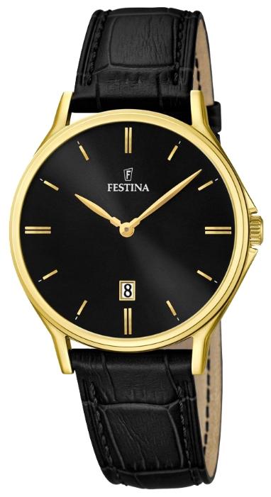 Festina F16747.4 - мужские наручные часы из коллекции ClassicFestina<br><br><br>Бренд: Festina<br>Модель: Festina F16747/4<br>Артикул: F16747.4<br>Вариант артикула: None<br>Коллекция: Classic<br>Подколлекция: None<br>Страна: Испания<br>Пол: мужские<br>Тип механизма: кварцевые<br>Механизм: MGL15<br>Количество камней: None<br>Автоподзавод: None<br>Источник энергии: от батарейки<br>Срок службы элемента питания: None<br>Дисплей: стрелки<br>Цифры: отсутствуют<br>Водозащита: WR 50<br>Противоударные: None<br>Материал корпуса: нерж. сталь, PVD покрытие (полное)<br>Материал браслета: кожа<br>Материал безеля: None<br>Стекло: минеральное<br>Антибликовое покрытие: None<br>Цвет корпуса: None<br>Цвет браслета: None<br>Цвет циферблата: None<br>Цвет безеля: None<br>Размеры: 39.2 мм<br>Диаметр: None<br>Диаметр корпуса: None<br>Толщина: None<br>Ширина ремешка: None<br>Вес: None<br>Спорт-функции: None<br>Подсветка: None<br>Вставка: None<br>Отображение даты: число<br>Хронограф: None<br>Таймер: None<br>Термометр: None<br>Хронометр: None<br>GPS: None<br>Радиосинхронизация: None<br>Барометр: None<br>Скелетон: None<br>Дополнительная информация: None<br>Дополнительные функции: None