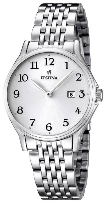 Festina F16748.1 - женские наручные часы из коллекции ClassicFestina<br><br><br>Бренд: Festina<br>Модель: Festina F16748/1<br>Артикул: F16748.1<br>Вариант артикула: None<br>Коллекция: Classic<br>Подколлекция: None<br>Страна: Испания<br>Пол: женские<br>Тип механизма: кварцевые<br>Механизм: MGL15<br>Количество камней: None<br>Автоподзавод: None<br>Источник энергии: от батарейки<br>Срок службы элемента питания: None<br>Дисплей: стрелки<br>Цифры: арабские<br>Водозащита: WR 50<br>Противоударные: None<br>Материал корпуса: нерж. сталь<br>Материал браслета: нерж. сталь<br>Материал безеля: None<br>Стекло: минеральное<br>Антибликовое покрытие: None<br>Цвет корпуса: None<br>Цвет браслета: None<br>Цвет циферблата: None<br>Цвет безеля: None<br>Размеры: 30.8 мм<br>Диаметр: None<br>Диаметр корпуса: None<br>Толщина: None<br>Ширина ремешка: None<br>Вес: None<br>Спорт-функции: None<br>Подсветка: None<br>Вставка: None<br>Отображение даты: число<br>Хронограф: None<br>Таймер: None<br>Термометр: None<br>Хронометр: None<br>GPS: None<br>Радиосинхронизация: None<br>Барометр: None<br>Скелетон: None<br>Дополнительная информация: None<br>Дополнительные функции: None
