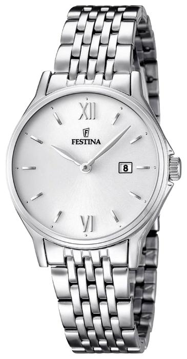 Festina F16748.2 - женские наручные часы из коллекции ClassicFestina<br><br><br>Бренд: Festina<br>Модель: Festina F16748/2<br>Артикул: F16748.2<br>Вариант артикула: None<br>Коллекция: Classic<br>Подколлекция: None<br>Страна: Испания<br>Пол: женские<br>Тип механизма: кварцевые<br>Механизм: MGL15<br>Количество камней: None<br>Автоподзавод: None<br>Источник энергии: от батарейки<br>Срок службы элемента питания: None<br>Дисплей: стрелки<br>Цифры: римские<br>Водозащита: WR 50<br>Противоударные: None<br>Материал корпуса: нерж. сталь<br>Материал браслета: нерж. сталь<br>Материал безеля: None<br>Стекло: минеральное<br>Антибликовое покрытие: None<br>Цвет корпуса: None<br>Цвет браслета: None<br>Цвет циферблата: None<br>Цвет безеля: None<br>Размеры: 30.8 мм<br>Диаметр: None<br>Диаметр корпуса: None<br>Толщина: None<br>Ширина ремешка: None<br>Вес: None<br>Спорт-функции: None<br>Подсветка: None<br>Вставка: None<br>Отображение даты: число<br>Хронограф: None<br>Таймер: None<br>Термометр: None<br>Хронометр: None<br>GPS: None<br>Радиосинхронизация: None<br>Барометр: None<br>Скелетон: None<br>Дополнительная информация: None<br>Дополнительные функции: None