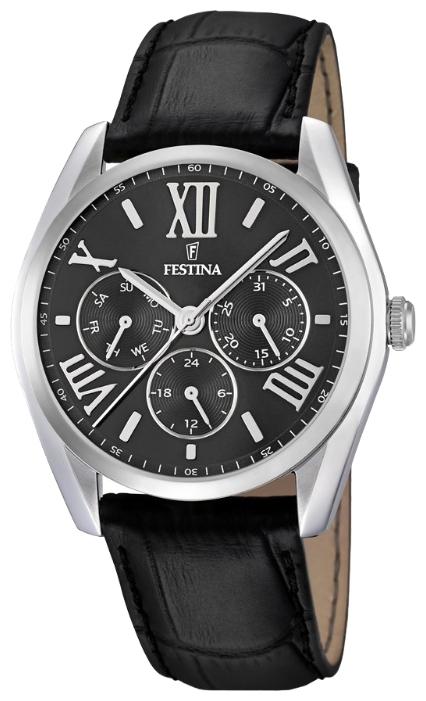 Festina F16752.2 - мужские наручные часы из коллекции ClassicFestina<br><br><br>Бренд: Festina<br>Модель: Festina F16752/2<br>Артикул: F16752.2<br>Вариант артикула: None<br>Коллекция: Classic<br>Подколлекция: None<br>Страна: Испания<br>Пол: мужские<br>Тип механизма: кварцевые<br>Механизм: M6P29<br>Количество камней: None<br>Автоподзавод: None<br>Источник энергии: от батарейки<br>Срок службы элемента питания: None<br>Дисплей: стрелки<br>Цифры: римские<br>Водозащита: WR 50<br>Противоударные: None<br>Материал корпуса: нерж. сталь<br>Материал браслета: кожа<br>Материал безеля: None<br>Стекло: минеральное<br>Антибликовое покрытие: None<br>Цвет корпуса: None<br>Цвет браслета: None<br>Цвет циферблата: None<br>Цвет безеля: None<br>Размеры: 42.2x9 мм<br>Диаметр: None<br>Диаметр корпуса: None<br>Толщина: None<br>Ширина ремешка: None<br>Вес: None<br>Спорт-функции: None<br>Подсветка: None<br>Вставка: None<br>Отображение даты: число, день недели<br>Хронограф: None<br>Таймер: None<br>Термометр: None<br>Хронометр: None<br>GPS: None<br>Радиосинхронизация: None<br>Барометр: None<br>Скелетон: None<br>Дополнительная информация: None<br>Дополнительные функции: None