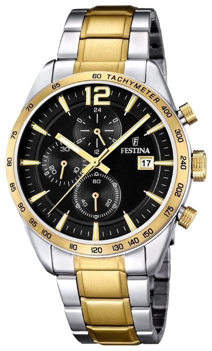 Festina F16761.4 - мужские наручные часы из коллекции ChronographFestina<br><br><br>Бренд: Festina<br>Модель: Festina F16761/4<br>Артикул: F16761.4<br>Вариант артикула: None<br>Коллекция: Chronograph<br>Подколлекция: None<br>Страна: Испания<br>Пол: мужские<br>Тип механизма: кварцевые<br>Механизм: MJS15<br>Количество камней: None<br>Автоподзавод: None<br>Источник энергии: от батарейки<br>Срок службы элемента питания: None<br>Дисплей: стрелки<br>Цифры: арабские<br>Водозащита: WR 50<br>Противоударные: None<br>Материал корпуса: нерж. сталь, PVD покрытие (частичное)<br>Материал браслета: нерж. сталь, PVD покрытие (частичное)<br>Материал безеля: None<br>Стекло: минеральное<br>Антибликовое покрытие: None<br>Цвет корпуса: None<br>Цвет браслета: None<br>Цвет циферблата: None<br>Цвет безеля: None<br>Размеры: 44 мм<br>Диаметр: None<br>Диаметр корпуса: None<br>Толщина: None<br>Ширина ремешка: None<br>Вес: None<br>Спорт-функции: секундомер<br>Подсветка: стрелок<br>Вставка: None<br>Отображение даты: число<br>Хронограф: есть<br>Таймер: None<br>Термометр: None<br>Хронометр: None<br>GPS: None<br>Радиосинхронизация: None<br>Барометр: None<br>Скелетон: None<br>Дополнительная информация: None<br>Дополнительные функции: None