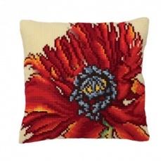 Вышитая подушка, подушка Collection D'Art, купить набор для вышивки подушки