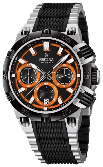 Festina F16775.6 - мужские наручные часы из коллекции Chrono BikeFestina<br><br><br>Бренд: Festina<br>Модель: Festina F16775/6<br>Артикул: F16775.6<br>Вариант артикула: None<br>Коллекция: Chrono Bike<br>Подколлекция: None<br>Страна: Испания<br>Пол: мужские<br>Тип механизма: кварцевые<br>Механизм: M6S20<br>Количество камней: None<br>Автоподзавод: None<br>Источник энергии: от батарейки<br>Срок службы элемента питания: None<br>Дисплей: стрелки<br>Цифры: отсутствуют<br>Водозащита: WR 100<br>Противоударные: None<br>Материал корпуса: нерж. сталь, частичное покрытие корпуса<br>Материал браслета: нерж. сталь, частичное дополнительное покрытие<br>Материал безеля: None<br>Стекло: минеральное<br>Антибликовое покрытие: None<br>Цвет корпуса: None<br>Цвет браслета: None<br>Цвет циферблата: None<br>Цвет безеля: None<br>Размеры: 44 мм<br>Диаметр: None<br>Диаметр корпуса: None<br>Толщина: None<br>Ширина ремешка: None<br>Вес: None<br>Спорт-функции: секундомер<br>Подсветка: стрелок<br>Вставка: None<br>Отображение даты: число<br>Хронограф: есть<br>Таймер: None<br>Термометр: None<br>Хронометр: None<br>GPS: None<br>Радиосинхронизация: None<br>Барометр: None<br>Скелетон: None<br>Дополнительная информация: None<br>Дополнительные функции: None