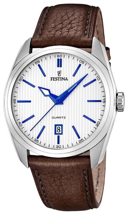Festina F16777.2 - мужские наручные часы из коллекции Correa ClasicoFestina<br><br><br>Бренд: Festina<br>Модель: Festina F16777/2<br>Артикул: F16777.2<br>Вариант артикула: None<br>Коллекция: Correa Clasico<br>Подколлекция: None<br>Страна: Испания<br>Пол: мужские<br>Тип механизма: кварцевые<br>Механизм: M2315<br>Количество камней: None<br>Автоподзавод: None<br>Источник энергии: от батарейки<br>Срок службы элемента питания: None<br>Дисплей: стрелки<br>Цифры: отсутствуют<br>Водозащита: WR 50<br>Противоударные: None<br>Материал корпуса: нерж. сталь<br>Материал браслета: кожа<br>Материал безеля: None<br>Стекло: минеральное<br>Антибликовое покрытие: None<br>Цвет корпуса: None<br>Цвет браслета: None<br>Цвет циферблата: None<br>Цвет безеля: None<br>Размеры: 44x12 мм<br>Диаметр: None<br>Диаметр корпуса: None<br>Толщина: None<br>Ширина ремешка: None<br>Вес: None<br>Спорт-функции: None<br>Подсветка: стрелок<br>Вставка: None<br>Отображение даты: число<br>Хронограф: None<br>Таймер: None<br>Термометр: None<br>Хронометр: None<br>GPS: None<br>Радиосинхронизация: None<br>Барометр: None<br>Скелетон: None<br>Дополнительная информация: None<br>Дополнительные функции: None