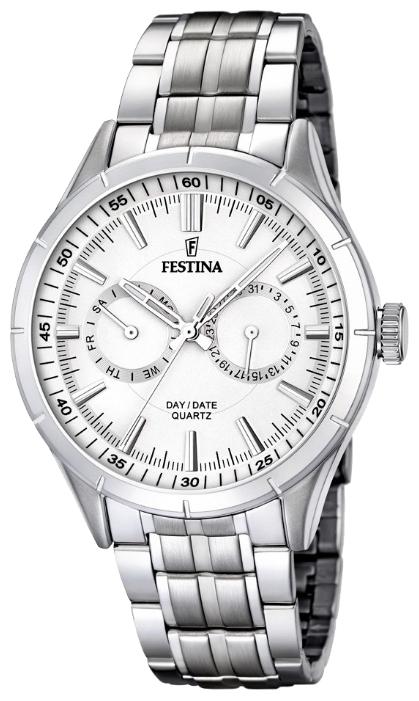 Festina F16780.1 - мужские наручные часы из коллекции ChronographFestina<br><br><br>Бренд: Festina<br>Модель: Festina F16780/1<br>Артикул: F16780.1<br>Вариант артикула: None<br>Коллекция: Chronograph<br>Подколлекция: None<br>Страна: Испания<br>Пол: мужские<br>Тип механизма: кварцевые<br>Механизм: M6P25<br>Количество камней: None<br>Автоподзавод: None<br>Источник энергии: от батарейки<br>Срок службы элемента питания: None<br>Дисплей: стрелки<br>Цифры: отсутствуют<br>Водозащита: WR 50<br>Противоударные: None<br>Материал корпуса: нерж. сталь<br>Материал браслета: нерж. сталь<br>Материал безеля: None<br>Стекло: минеральное<br>Антибликовое покрытие: None<br>Цвет корпуса: None<br>Цвет браслета: None<br>Цвет циферблата: None<br>Цвет безеля: None<br>Размеры: 44 мм<br>Диаметр: None<br>Диаметр корпуса: None<br>Толщина: None<br>Ширина ремешка: None<br>Вес: None<br>Спорт-функции: None<br>Подсветка: стрелок<br>Вставка: None<br>Отображение даты: число, день недели<br>Хронограф: None<br>Таймер: None<br>Термометр: None<br>Хронометр: None<br>GPS: None<br>Радиосинхронизация: None<br>Барометр: None<br>Скелетон: None<br>Дополнительная информация: None<br>Дополнительные функции: None