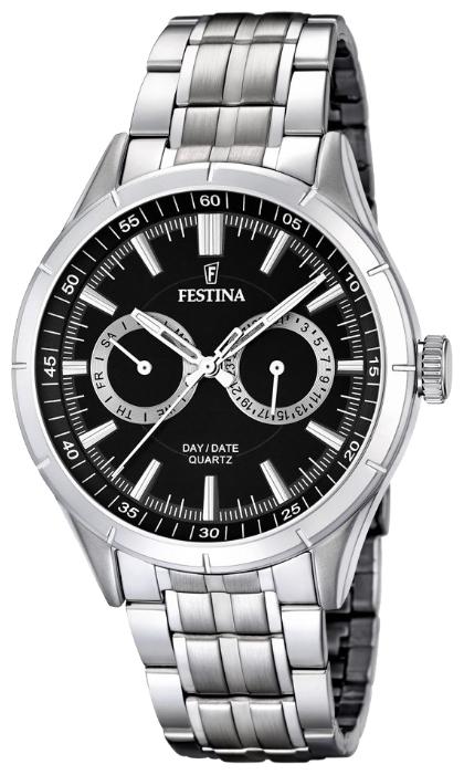Festina F16780.4 - мужские наручные часы из коллекции ChronographFestina<br><br><br>Бренд: Festina<br>Модель: Festina F16780/4<br>Артикул: F16780.4<br>Вариант артикула: None<br>Коллекция: Chronograph<br>Подколлекция: None<br>Страна: Испания<br>Пол: мужские<br>Тип механизма: кварцевые<br>Механизм: M6P25<br>Количество камней: None<br>Автоподзавод: None<br>Источник энергии: от батарейки<br>Срок службы элемента питания: None<br>Дисплей: стрелки<br>Цифры: отсутствуют<br>Водозащита: WR 50<br>Противоударные: None<br>Материал корпуса: нерж. сталь<br>Материал браслета: нерж. сталь<br>Материал безеля: None<br>Стекло: минеральное<br>Антибликовое покрытие: None<br>Цвет корпуса: None<br>Цвет браслета: None<br>Цвет циферблата: None<br>Цвет безеля: None<br>Размеры: 44 мм<br>Диаметр: None<br>Диаметр корпуса: None<br>Толщина: None<br>Ширина ремешка: None<br>Вес: None<br>Спорт-функции: None<br>Подсветка: стрелок<br>Вставка: None<br>Отображение даты: число, день недели<br>Хронограф: None<br>Таймер: None<br>Термометр: None<br>Хронометр: None<br>GPS: None<br>Радиосинхронизация: None<br>Барометр: None<br>Скелетон: None<br>Дополнительная информация: None<br>Дополнительные функции: None