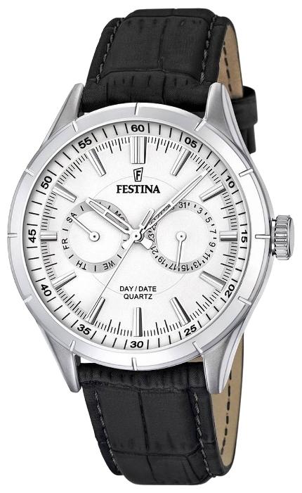 Festina F16781.1 - мужские наручные часы из коллекции RetroFestina<br><br><br>Бренд: Festina<br>Модель: Festina F16781/1<br>Артикул: F16781.1<br>Вариант артикула: None<br>Коллекция: Retro<br>Подколлекция: None<br>Страна: Испания<br>Пол: мужские<br>Тип механизма: кварцевые<br>Механизм: M6P25<br>Количество камней: None<br>Автоподзавод: None<br>Источник энергии: от батарейки<br>Срок службы элемента питания: None<br>Дисплей: стрелки<br>Цифры: отсутствуют<br>Водозащита: WR 50<br>Противоударные: None<br>Материал корпуса: нерж. сталь<br>Материал браслета: кожа<br>Материал безеля: None<br>Стекло: минеральное<br>Антибликовое покрытие: None<br>Цвет корпуса: None<br>Цвет браслета: None<br>Цвет циферблата: None<br>Цвет безеля: None<br>Размеры: 43.7 мм<br>Диаметр: None<br>Диаметр корпуса: None<br>Толщина: None<br>Ширина ремешка: None<br>Вес: None<br>Спорт-функции: None<br>Подсветка: стрелок<br>Вставка: None<br>Отображение даты: число, день недели<br>Хронограф: None<br>Таймер: None<br>Термометр: None<br>Хронометр: None<br>GPS: None<br>Радиосинхронизация: None<br>Барометр: None<br>Скелетон: None<br>Дополнительная информация: None<br>Дополнительные функции: None