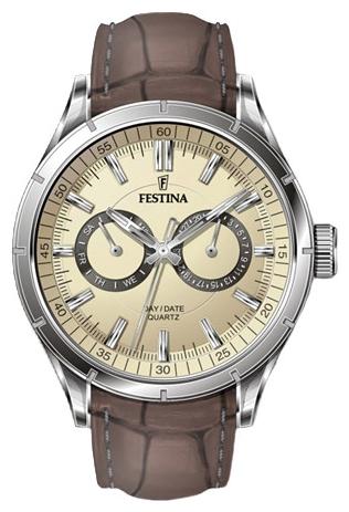 Festina F16781.2 - мужские наручные часы из коллекции RetroFestina<br><br><br>Бренд: Festina<br>Модель: Festina F16781/2<br>Артикул: F16781.2<br>Вариант артикула: None<br>Коллекция: Retro<br>Подколлекция: None<br>Страна: Испания<br>Пол: мужские<br>Тип механизма: кварцевые<br>Механизм: M6P25<br>Количество камней: None<br>Автоподзавод: None<br>Источник энергии: от батарейки<br>Срок службы элемента питания: None<br>Дисплей: стрелки<br>Цифры: отсутствуют<br>Водозащита: WR 50<br>Противоударные: None<br>Материал корпуса: нерж. сталь<br>Материал браслета: кожа (не указан)<br>Материал безеля: None<br>Стекло: минеральное<br>Антибликовое покрытие: None<br>Цвет корпуса: None<br>Цвет браслета: None<br>Цвет циферблата: None<br>Цвет безеля: None<br>Размеры: 43.5x12 мм<br>Диаметр: None<br>Диаметр корпуса: None<br>Толщина: None<br>Ширина ремешка: None<br>Вес: None<br>Спорт-функции: None<br>Подсветка: стрелок<br>Вставка: None<br>Отображение даты: число, день недели<br>Хронограф: None<br>Таймер: None<br>Термометр: None<br>Хронометр: None<br>GPS: None<br>Радиосинхронизация: None<br>Барометр: None<br>Скелетон: None<br>Дополнительная информация: None<br>Дополнительные функции: None