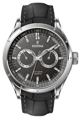 Festina F16781.4 - мужские наручные часы из коллекции RetroFestina<br><br><br>Бренд: Festina<br>Модель: Festina F16781/4<br>Артикул: F16781.4<br>Вариант артикула: None<br>Коллекция: Retro<br>Подколлекция: None<br>Страна: Испания<br>Пол: мужские<br>Тип механизма: кварцевые<br>Механизм: M6P25<br>Количество камней: None<br>Автоподзавод: None<br>Источник энергии: от батарейки<br>Срок службы элемента питания: None<br>Дисплей: стрелки<br>Цифры: отсутствуют<br>Водозащита: WR 50<br>Противоударные: None<br>Материал корпуса: нерж. сталь<br>Материал браслета: кожа (не указан)<br>Материал безеля: None<br>Стекло: минеральное<br>Антибликовое покрытие: None<br>Цвет корпуса: None<br>Цвет браслета: None<br>Цвет циферблата: None<br>Цвет безеля: None<br>Размеры: 45.5x12 мм<br>Диаметр: None<br>Диаметр корпуса: None<br>Толщина: None<br>Ширина ремешка: None<br>Вес: None<br>Спорт-функции: None<br>Подсветка: стрелок<br>Вставка: None<br>Отображение даты: число, день недели<br>Хронограф: None<br>Таймер: None<br>Термометр: None<br>Хронометр: None<br>GPS: None<br>Радиосинхронизация: None<br>Барометр: None<br>Скелетон: None<br>Дополнительная информация: None<br>Дополнительные функции: None