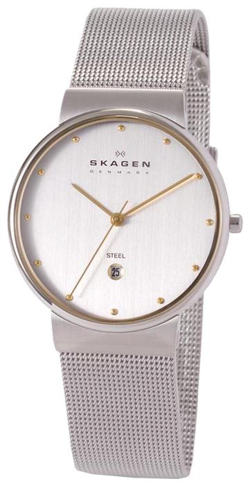 Skagen 355LGSC - мужские наручные часы из коллекции MeshSkagen<br><br><br>Бренд: Skagen<br>Модель: Skagen 355LGSC<br>Артикул: 355LGSC<br>Вариант артикула: None<br>Коллекция: Mesh<br>Подколлекция: None<br>Страна: Дания<br>Пол: мужские<br>Тип механизма: кварцевые<br>Механизм: None<br>Количество камней: None<br>Автоподзавод: None<br>Источник энергии: от батарейки<br>Срок службы элемента питания: None<br>Дисплей: стрелки<br>Цифры: отсутствуют<br>Водозащита: WR 30<br>Противоударные: None<br>Материал корпуса: нерж. сталь, покрытие: позолота<br>Материал браслета: не указан<br>Материал безеля: None<br>Стекло: минеральное<br>Антибликовое покрытие: None<br>Цвет корпуса: None<br>Цвет браслета: None<br>Цвет циферблата: None<br>Цвет безеля: None<br>Размеры: None<br>Диаметр: None<br>Диаметр корпуса: None<br>Толщина: None<br>Ширина ремешка: None<br>Вес: None<br>Спорт-функции: None<br>Подсветка: None<br>Вставка: None<br>Отображение даты: число<br>Хронограф: None<br>Таймер: None<br>Термометр: None<br>Хронометр: None<br>GPS: None<br>Радиосинхронизация: None<br>Барометр: None<br>Скелетон: None<br>Дополнительная информация: позолоченные стрелки и метки<br>Дополнительные функции: None