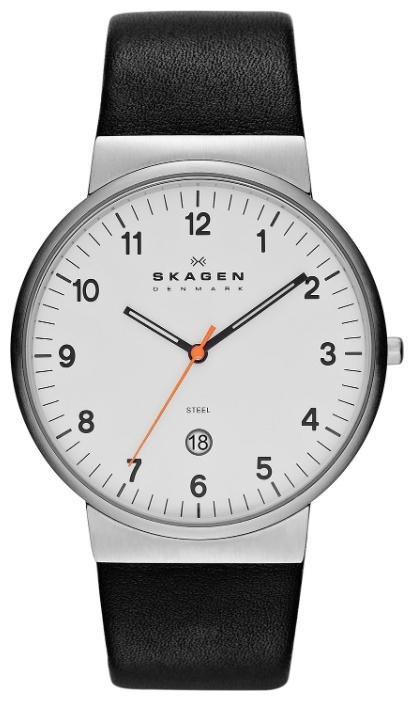 Skagen SKW6024 - мужские наручные часы из коллекции LeatherSkagen<br><br><br>Бренд: Skagen<br>Модель: Skagen SKW6024<br>Артикул: SKW6024<br>Вариант артикула: None<br>Коллекция: Leather<br>Подколлекция: None<br>Страна: Дания<br>Пол: мужские<br>Тип механизма: кварцевые<br>Механизм: None<br>Количество камней: None<br>Автоподзавод: None<br>Источник энергии: от батарейки<br>Срок службы элемента питания: None<br>Дисплей: стрелки<br>Цифры: арабские<br>Водозащита: WR 30<br>Противоударные: None<br>Материал корпуса: нерж. сталь<br>Материал браслета: кожа<br>Материал безеля: None<br>Стекло: минеральное<br>Антибликовое покрытие: None<br>Цвет корпуса: None<br>Цвет браслета: None<br>Цвет циферблата: None<br>Цвет безеля: None<br>Размеры: 40x45.3x7.9 мм<br>Диаметр: None<br>Диаметр корпуса: None<br>Толщина: None<br>Ширина ремешка: None<br>Вес: None<br>Спорт-функции: None<br>Подсветка: стрелок<br>Вставка: None<br>Отображение даты: число<br>Хронограф: None<br>Таймер: None<br>Термометр: None<br>Хронометр: None<br>GPS: None<br>Радиосинхронизация: None<br>Барометр: None<br>Скелетон: None<br>Дополнительная информация: None<br>Дополнительные функции: None