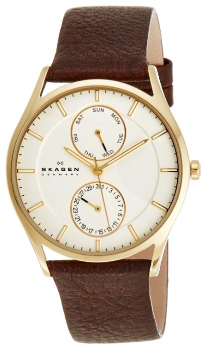 Skagen SKW6066 - мужские наручные часы из коллекции LeatherSkagen<br><br><br>Бренд: Skagen<br>Модель: Skagen SKW6066<br>Артикул: SKW6066<br>Вариант артикула: None<br>Коллекция: Leather<br>Подколлекция: None<br>Страна: Дания<br>Пол: мужские<br>Тип механизма: кварцевые<br>Механизм: None<br>Количество камней: None<br>Автоподзавод: None<br>Источник энергии: от батарейки<br>Срок службы элемента питания: None<br>Дисплей: стрелки<br>Цифры: отсутствуют<br>Водозащита: WR 50<br>Противоударные: None<br>Материал корпуса: нерж. сталь, IP покрытие (полное)<br>Материал браслета: кожа<br>Материал безеля: None<br>Стекло: минеральное<br>Антибликовое покрытие: None<br>Цвет корпуса: None<br>Цвет браслета: None<br>Цвет циферблата: None<br>Цвет безеля: None<br>Размеры: 40x6.5 мм<br>Диаметр: None<br>Диаметр корпуса: None<br>Толщина: None<br>Ширина ремешка: None<br>Вес: None<br>Спорт-функции: None<br>Подсветка: None<br>Вставка: None<br>Отображение даты: число, день недели<br>Хронограф: None<br>Таймер: None<br>Термометр: None<br>Хронометр: None<br>GPS: None<br>Радиосинхронизация: None<br>Барометр: None<br>Скелетон: None<br>Дополнительная информация: None<br>Дополнительные функции: None