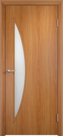 Дверь Верда C-6, цвет миланский орех, остекленная