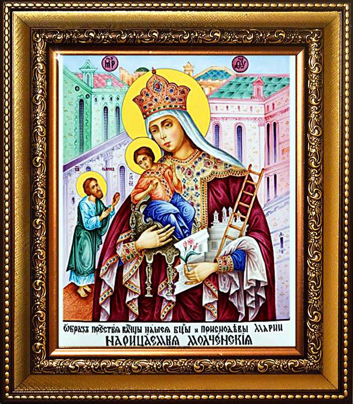 ... икона Божьей Матери на холсте: shop-pobedinedug.ru/product/molchenskaya-ikona-bozhiey-materi-na...
