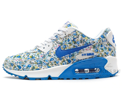 Кроссовки женские Nike Air Max 90 Blue Flower