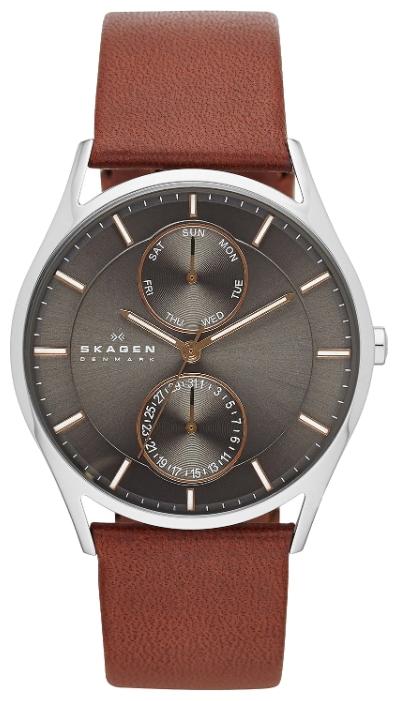 Skagen SKW6086 - мужские наручные часы из коллекции LeatherSkagen<br><br><br>Бренд: Skagen<br>Модель: Skagen SKW6086<br>Артикул: SKW6086<br>Вариант артикула: None<br>Коллекция: Leather<br>Подколлекция: None<br>Страна: Дания<br>Пол: мужские<br>Тип механизма: кварцевые<br>Механизм: None<br>Количество камней: None<br>Автоподзавод: None<br>Источник энергии: от батарейки<br>Срок службы элемента питания: None<br>Дисплей: стрелки<br>Цифры: отсутствуют<br>Водозащита: WR 50<br>Противоударные: None<br>Материал корпуса: нерж. сталь<br>Материал браслета: кожа<br>Материал безеля: None<br>Стекло: минеральное<br>Антибликовое покрытие: None<br>Цвет корпуса: None<br>Цвет браслета: None<br>Цвет циферблата: None<br>Цвет безеля: None<br>Размеры: 40x6.5 мм<br>Диаметр: None<br>Диаметр корпуса: None<br>Толщина: None<br>Ширина ремешка: None<br>Вес: None<br>Спорт-функции: None<br>Подсветка: None<br>Вставка: None<br>Отображение даты: число, день недели<br>Хронограф: None<br>Таймер: None<br>Термометр: None<br>Хронометр: None<br>GPS: None<br>Радиосинхронизация: None<br>Барометр: None<br>Скелетон: None<br>Дополнительная информация: None<br>Дополнительные функции: None