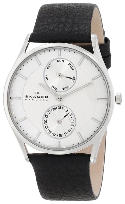 Skagen SKW6065 - мужские наручные часы из коллекции LeatherSkagen<br><br><br>Бренд: Skagen<br>Модель: Skagen SKW6065<br>Артикул: SKW6065<br>Вариант артикула: None<br>Коллекция: Leather<br>Подколлекция: None<br>Страна: Дания<br>Пол: мужские<br>Тип механизма: кварцевые<br>Механизм: None<br>Количество камней: None<br>Автоподзавод: None<br>Источник энергии: от батарейки<br>Срок службы элемента питания: None<br>Дисплей: стрелки<br>Цифры: отсутствуют<br>Водозащита: WR 50<br>Противоударные: None<br>Материал корпуса: нерж. сталь<br>Материал браслета: кожа<br>Материал безеля: None<br>Стекло: минеральное<br>Антибликовое покрытие: None<br>Цвет корпуса: None<br>Цвет браслета: None<br>Цвет циферблата: None<br>Цвет безеля: None<br>Размеры: 40x6.5 мм<br>Диаметр: None<br>Диаметр корпуса: None<br>Толщина: None<br>Ширина ремешка: None<br>Вес: None<br>Спорт-функции: None<br>Подсветка: None<br>Вставка: None<br>Отображение даты: число, день недели<br>Хронограф: None<br>Таймер: None<br>Термометр: None<br>Хронометр: None<br>GPS: None<br>Радиосинхронизация: None<br>Барометр: None<br>Скелетон: None<br>Дополнительная информация: None<br>Дополнительные функции: None
