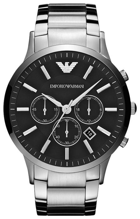 Emporio Armani AR2460 - мужские наручные часы из коллекции SportivoEmporio Armani<br><br><br>Бренд: Emporio Armani<br>Модель: Emporio Armani AR2460<br>Артикул: AR2460<br>Вариант артикула: None<br>Коллекция: Sportivo<br>Подколлекция: None<br>Страна: Италия<br>Пол: мужские<br>Тип механизма: кварцевые<br>Механизм: None<br>Количество камней: None<br>Автоподзавод: None<br>Источник энергии: от батарейки<br>Срок службы элемента питания: None<br>Дисплей: стрелки<br>Цифры: отсутствуют<br>Водозащита: WR 50<br>Противоударные: None<br>Материал корпуса: нерж. сталь<br>Материал браслета: нерж. сталь<br>Материал безеля: None<br>Стекло: минеральное<br>Антибликовое покрытие: None<br>Цвет корпуса: None<br>Цвет браслета: None<br>Цвет циферблата: None<br>Цвет безеля: None<br>Размеры: 46x12 мм<br>Диаметр: None<br>Диаметр корпуса: None<br>Толщина: None<br>Ширина ремешка: None<br>Вес: None<br>Спорт-функции: секундомер<br>Подсветка: None<br>Вставка: None<br>Отображение даты: число<br>Хронограф: есть<br>Таймер: None<br>Термометр: None<br>Хронометр: None<br>GPS: None<br>Радиосинхронизация: None<br>Барометр: None<br>Скелетон: None<br>Дополнительная информация: None<br>Дополнительные функции: второй часовой пояс