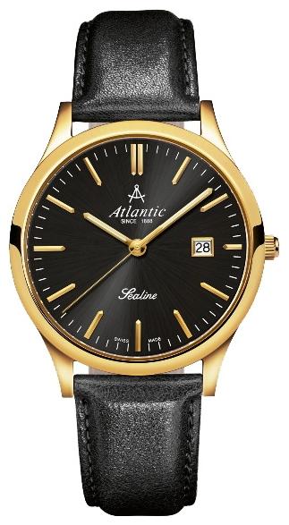 Atlantic 62341.45.61 - мужские наручные часы из коллекции SealineAtlantic<br><br><br>Бренд: Atlantic<br>Модель: Atlantic 62341.45.61<br>Артикул: 62341.45.61<br>Вариант артикула: None<br>Коллекция: Sealine<br>Подколлекция: None<br>Страна: Швейцария<br>Пол: мужские<br>Тип механизма: кварцевые<br>Механизм: Ronda 715<br>Количество камней: None<br>Автоподзавод: None<br>Источник энергии: от батарейки<br>Срок службы элемента питания: None<br>Дисплей: стрелки<br>Цифры: отсутствуют<br>Водозащита: WR 30<br>Противоударные: None<br>Материал корпуса: нерж. сталь, покрытие: позолота (полное)<br>Материал браслета: кожа<br>Материал безеля: None<br>Стекло: сапфировое<br>Антибликовое покрытие: None<br>Цвет корпуса: None<br>Цвет браслета: None<br>Цвет циферблата: None<br>Цвет безеля: None<br>Размеры: 40 мм<br>Диаметр: None<br>Диаметр корпуса: None<br>Толщина: None<br>Ширина ремешка: None<br>Вес: None<br>Спорт-функции: None<br>Подсветка: стрелок<br>Вставка: None<br>Отображение даты: число<br>Хронограф: None<br>Таймер: None<br>Термометр: None<br>Хронометр: None<br>GPS: None<br>Радиосинхронизация: None<br>Барометр: None<br>Скелетон: None<br>Дополнительная информация: None<br>Дополнительные функции: None