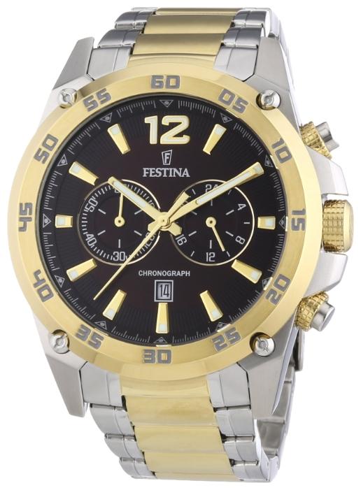 Festina F16681.3 - мужские наручные часы из коллекции Crono Acero Sin AlarmaFestina<br><br><br>Бренд: Festina<br>Модель: Festina F16681/3<br>Артикул: F16681.3<br>Вариант артикула: None<br>Коллекция: Crono Acero Sin Alarma<br>Подколлекция: None<br>Страна: Испания<br>Пол: мужские<br>Тип механизма: кварцевые<br>Механизм: M0S21<br>Количество камней: None<br>Автоподзавод: None<br>Источник энергии: от батарейки<br>Срок службы элемента питания: None<br>Дисплей: стрелки<br>Цифры: арабские<br>Водозащита: WR 100<br>Противоударные: None<br>Материал корпуса: нерж. сталь, PVD покрытие (частичное)<br>Материал браслета: нерж. сталь, PVD покрытие (частичное)<br>Материал безеля: None<br>Стекло: минеральное<br>Антибликовое покрытие: None<br>Цвет корпуса: None<br>Цвет браслета: None<br>Цвет циферблата: None<br>Цвет безеля: None<br>Размеры: 47 мм<br>Диаметр: None<br>Диаметр корпуса: None<br>Толщина: None<br>Ширина ремешка: None<br>Вес: None<br>Спорт-функции: секундомер<br>Подсветка: стрелок<br>Вставка: None<br>Отображение даты: число<br>Хронограф: есть<br>Таймер: None<br>Термометр: None<br>Хронометр: None<br>GPS: None<br>Радиосинхронизация: None<br>Барометр: None<br>Скелетон: None<br>Дополнительная информация: None<br>Дополнительные функции: None