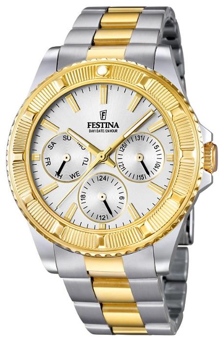 Festina F16691.1 - мужские наручные часы из коллекции Vendome CollectionFestina<br><br><br>Бренд: Festina<br>Модель: Festina F16691/1<br>Артикул: F16691.1<br>Вариант артикула: None<br>Коллекция: Vendome Collection<br>Подколлекция: None<br>Страна: Испания<br>Пол: мужские<br>Тип механизма: кварцевые<br>Механизм: Miyota 6P29<br>Количество камней: None<br>Автоподзавод: None<br>Источник энергии: от батарейки<br>Срок службы элемента питания: None<br>Дисплей: стрелки<br>Цифры: отсутствуют<br>Водозащита: WR 50<br>Противоударные: None<br>Материал корпуса: нерж. сталь, PVD покрытие (частичное)<br>Материал браслета: нерж. сталь, PVD покрытие (частичное)<br>Материал безеля: None<br>Стекло: минеральное<br>Антибликовое покрытие: None<br>Цвет корпуса: None<br>Цвет браслета: None<br>Цвет циферблата: None<br>Цвет безеля: None<br>Размеры: 40 мм<br>Диаметр: None<br>Диаметр корпуса: None<br>Толщина: None<br>Ширина ремешка: None<br>Вес: None<br>Спорт-функции: None<br>Подсветка: стрелок<br>Вставка: None<br>Отображение даты: число, день недели<br>Хронограф: None<br>Таймер: None<br>Термометр: None<br>Хронометр: None<br>GPS: None<br>Радиосинхронизация: None<br>Барометр: None<br>Скелетон: None<br>Дополнительная информация: None<br>Дополнительные функции: None