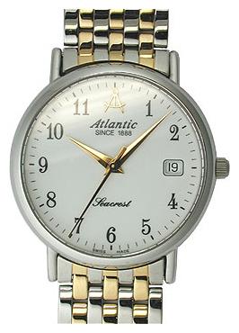 Atlantic 50345.43.13 - мужские наручные часы из коллекции SeacrestAtlantic<br><br><br>Бренд: Atlantic<br>Модель: Atlantic 50345.43.13<br>Артикул: 50345.43.13<br>Вариант артикула: None<br>Коллекция: Seacrest<br>Подколлекция: None<br>Страна: Швейцария<br>Пол: мужские<br>Тип механизма: кварцевые<br>Механизм: ETA F06.111<br>Количество камней: None<br>Автоподзавод: None<br>Источник энергии: от батарейки<br>Срок службы элемента питания: None<br>Дисплей: стрелки<br>Цифры: арабские<br>Водозащита: WR 30<br>Противоударные: None<br>Материал корпуса: нерж. сталь, покрытие: позолота (частичное)<br>Материал браслета: не указан, покрытие: позолота (частичное)<br>Материал безеля: None<br>Стекло: сапфировое<br>Антибликовое покрытие: None<br>Цвет корпуса: None<br>Цвет браслета: None<br>Цвет циферблата: None<br>Цвет безеля: None<br>Размеры: 35x35 мм<br>Диаметр: None<br>Диаметр корпуса: None<br>Толщина: None<br>Ширина ремешка: None<br>Вес: None<br>Спорт-функции: None<br>Подсветка: None<br>Вставка: None<br>Отображение даты: число<br>Хронограф: None<br>Таймер: None<br>Термометр: None<br>Хронометр: None<br>GPS: None<br>Радиосинхронизация: None<br>Барометр: None<br>Скелетон: None<br>Дополнительная информация: None<br>Дополнительные функции: None