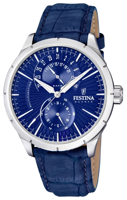 Festina F16573.7 - мужские наручные часы из коллекции RetroFestina<br><br><br>Бренд: Festina<br>Модель: Festina F16573/7<br>Артикул: F16573.7<br>Вариант артикула: None<br>Коллекция: Retro<br>Подколлекция: None<br>Страна: Испания<br>Пол: мужские<br>Тип механизма: кварцевые<br>Механизм: None<br>Количество камней: None<br>Автоподзавод: None<br>Источник энергии: от батарейки<br>Срок службы элемента питания: None<br>Дисплей: стрелки<br>Цифры: отсутствуют<br>Водозащита: WR 50<br>Противоударные: None<br>Материал корпуса: нерж. сталь<br>Материал браслета: кожа<br>Материал безеля: None<br>Стекло: минеральное<br>Антибликовое покрытие: None<br>Цвет корпуса: None<br>Цвет браслета: None<br>Цвет циферблата: None<br>Цвет безеля: None<br>Размеры: 46x12 мм<br>Диаметр: None<br>Диаметр корпуса: None<br>Толщина: None<br>Ширина ремешка: None<br>Вес: None<br>Спорт-функции: None<br>Подсветка: стрелок<br>Вставка: None<br>Отображение даты: число<br>Хронограф: None<br>Таймер: None<br>Термометр: None<br>Хронометр: None<br>GPS: None<br>Радиосинхронизация: None<br>Барометр: None<br>Скелетон: None<br>Дополнительная информация: None<br>Дополнительные функции: None