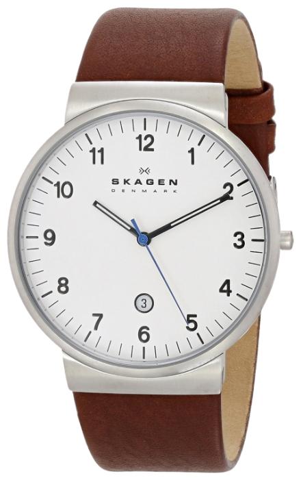 Skagen SKW6082 - мужские наручные часы из коллекции LeatherSkagen<br><br><br>Бренд: Skagen<br>Модель: Skagen SKW6082<br>Артикул: SKW6082<br>Вариант артикула: None<br>Коллекция: Leather<br>Подколлекция: None<br>Страна: Дания<br>Пол: мужские<br>Тип механизма: кварцевые<br>Механизм: None<br>Количество камней: None<br>Автоподзавод: None<br>Источник энергии: от батарейки<br>Срок службы элемента питания: None<br>Дисплей: стрелки<br>Цифры: арабские<br>Водозащита: WR 30<br>Противоударные: None<br>Материал корпуса: нерж. сталь<br>Материал браслета: кожа<br>Материал безеля: None<br>Стекло: минеральное<br>Антибликовое покрытие: None<br>Цвет корпуса: None<br>Цвет браслета: None<br>Цвет циферблата: None<br>Цвет безеля: None<br>Размеры: 40x8 мм<br>Диаметр: None<br>Диаметр корпуса: None<br>Толщина: None<br>Ширина ремешка: None<br>Вес: None<br>Спорт-функции: None<br>Подсветка: None<br>Вставка: None<br>Отображение даты: число<br>Хронограф: None<br>Таймер: None<br>Термометр: None<br>Хронометр: None<br>GPS: None<br>Радиосинхронизация: None<br>Барометр: None<br>Скелетон: None<br>Дополнительная информация: None<br>Дополнительные функции: None