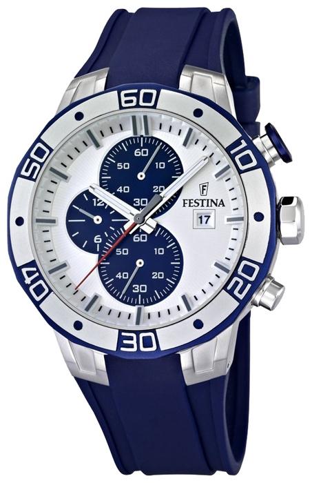 Festina F16667.1 - мужские наручные часы из коллекции SportFestina<br><br><br>Бренд: Festina<br>Модель: Festina F16667/1<br>Артикул: F16667.1<br>Вариант артикула: None<br>Коллекция: Sport<br>Подколлекция: None<br>Страна: Испания<br>Пол: мужские<br>Тип механизма: кварцевые<br>Механизм: None<br>Количество камней: None<br>Автоподзавод: None<br>Источник энергии: от батарейки<br>Срок службы элемента питания: None<br>Дисплей: стрелки<br>Цифры: отсутствуют<br>Водозащита: WR 100<br>Противоударные: None<br>Материал корпуса: нерж. сталь, PVD покрытие (частичное)<br>Материал браслета: каучук<br>Материал безеля: None<br>Стекло: минеральное<br>Антибликовое покрытие: None<br>Цвет корпуса: None<br>Цвет браслета: None<br>Цвет циферблата: None<br>Цвет безеля: None<br>Размеры: 45x14 мм<br>Диаметр: None<br>Диаметр корпуса: None<br>Толщина: None<br>Ширина ремешка: None<br>Вес: None<br>Спорт-функции: секундомер<br>Подсветка: стрелок<br>Вставка: None<br>Отображение даты: число<br>Хронограф: есть<br>Таймер: None<br>Термометр: None<br>Хронометр: None<br>GPS: None<br>Радиосинхронизация: None<br>Барометр: None<br>Скелетон: None<br>Дополнительная информация: None<br>Дополнительные функции: None