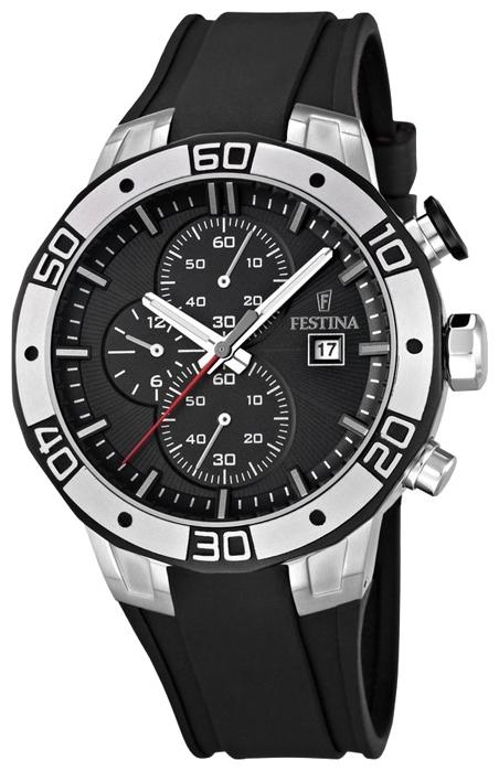Festina F16667.6 - мужские наручные часы из коллекции SportFestina<br><br><br>Бренд: Festina<br>Модель: Festina F16667/6<br>Артикул: F16667.6<br>Вариант артикула: None<br>Коллекция: Sport<br>Подколлекция: None<br>Страна: Испания<br>Пол: мужские<br>Тип механизма: кварцевые<br>Механизм: None<br>Количество камней: None<br>Автоподзавод: None<br>Источник энергии: от батарейки<br>Срок службы элемента питания: None<br>Дисплей: стрелки<br>Цифры: отсутствуют<br>Водозащита: WR 100<br>Противоударные: None<br>Материал корпуса: нерж. сталь, PVD покрытие (частичное)<br>Материал браслета: каучук<br>Материал безеля: None<br>Стекло: минеральное<br>Антибликовое покрытие: None<br>Цвет корпуса: None<br>Цвет браслета: None<br>Цвет циферблата: None<br>Цвет безеля: None<br>Размеры: 45x14 мм<br>Диаметр: None<br>Диаметр корпуса: None<br>Толщина: None<br>Ширина ремешка: None<br>Вес: None<br>Спорт-функции: секундомер<br>Подсветка: стрелок<br>Вставка: None<br>Отображение даты: число<br>Хронограф: есть<br>Таймер: None<br>Термометр: None<br>Хронометр: None<br>GPS: None<br>Радиосинхронизация: None<br>Барометр: None<br>Скелетон: None<br>Дополнительная информация: None<br>Дополнительные функции: None
