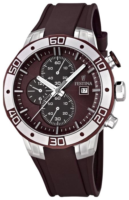 Festina F16667.3 - мужские наручные часы из коллекции SportFestina<br><br><br>Бренд: Festina<br>Модель: Festina F16667/3<br>Артикул: F16667.3<br>Вариант артикула: None<br>Коллекция: Sport<br>Подколлекция: None<br>Страна: Испания<br>Пол: мужские<br>Тип механизма: кварцевые<br>Механизм: None<br>Количество камней: None<br>Автоподзавод: None<br>Источник энергии: от батарейки<br>Срок службы элемента питания: None<br>Дисплей: стрелки<br>Цифры: отсутствуют<br>Водозащита: WR 100<br>Противоударные: None<br>Материал корпуса: нерж. сталь, PVD покрытие (частичное)<br>Материал браслета: каучук<br>Материал безеля: None<br>Стекло: минеральное<br>Антибликовое покрытие: None<br>Цвет корпуса: None<br>Цвет браслета: None<br>Цвет циферблата: None<br>Цвет безеля: None<br>Размеры: 45x14 мм<br>Диаметр: None<br>Диаметр корпуса: None<br>Толщина: None<br>Ширина ремешка: None<br>Вес: None<br>Спорт-функции: секундомер<br>Подсветка: стрелок<br>Вставка: None<br>Отображение даты: число<br>Хронограф: есть<br>Таймер: None<br>Термометр: None<br>Хронометр: None<br>GPS: None<br>Радиосинхронизация: None<br>Барометр: None<br>Скелетон: None<br>Дополнительная информация: None<br>Дополнительные функции: None