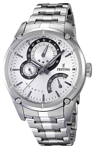 Festina F16669.1 - мужские наручные часы из коллекции RetroFestina<br><br><br>Бренд: Festina<br>Модель: Festina F16669/1<br>Артикул: F16669.1<br>Вариант артикула: None<br>Коллекция: Retro<br>Подколлекция: None<br>Страна: Испания<br>Пол: мужские<br>Тип механизма: кварцевые<br>Механизм: Miyota<br>Количество камней: None<br>Автоподзавод: None<br>Источник энергии: от батарейки<br>Срок службы элемента питания: None<br>Дисплей: стрелки<br>Цифры: отсутствуют<br>Водозащита: WR 50<br>Противоударные: None<br>Материал корпуса: нерж. сталь<br>Материал браслета: нерж. сталь<br>Материал безеля: None<br>Стекло: минеральное<br>Антибликовое покрытие: None<br>Цвет корпуса: None<br>Цвет браслета: None<br>Цвет циферблата: None<br>Цвет безеля: None<br>Размеры: 44x12 мм<br>Диаметр: None<br>Диаметр корпуса: None<br>Толщина: None<br>Ширина ремешка: None<br>Вес: 151 г<br>Спорт-функции: None<br>Подсветка: стрелок<br>Вставка: None<br>Отображение даты: число, день недели<br>Хронограф: None<br>Таймер: None<br>Термометр: None<br>Хронометр: None<br>GPS: None<br>Радиосинхронизация: None<br>Барометр: None<br>Скелетон: None<br>Дополнительная информация: срок службы батарейки 3 года<br>Дополнительные функции: None