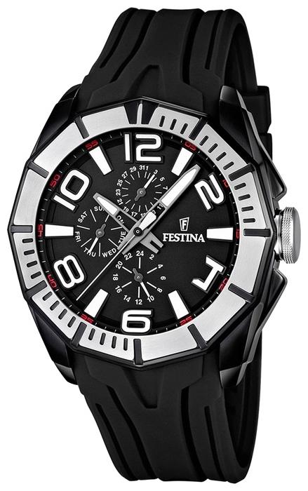 Festina F16670.8 - мужские наручные часы из коллекции SportFestina<br><br><br>Бренд: Festina<br>Модель: Festina F16670/8<br>Артикул: F16670.8<br>Вариант артикула: None<br>Коллекция: Sport<br>Подколлекция: None<br>Страна: Испания<br>Пол: мужские<br>Тип механизма: кварцевые<br>Механизм: None<br>Количество камней: None<br>Автоподзавод: None<br>Источник энергии: от батарейки<br>Срок службы элемента питания: None<br>Дисплей: стрелки<br>Цифры: арабские<br>Водозащита: WR 100<br>Противоударные: None<br>Материал корпуса: нерж. сталь, PVD покрытие (частичное)<br>Материал браслета: каучук<br>Материал безеля: None<br>Стекло: минеральное<br>Антибликовое покрытие: None<br>Цвет корпуса: None<br>Цвет браслета: None<br>Цвет циферблата: None<br>Цвет безеля: None<br>Размеры: 48x14.5 мм<br>Диаметр: None<br>Диаметр корпуса: None<br>Толщина: None<br>Ширина ремешка: None<br>Вес: 119 г<br>Спорт-функции: None<br>Подсветка: стрелок<br>Вставка: None<br>Отображение даты: число, день недели<br>Хронограф: None<br>Таймер: None<br>Термометр: None<br>Хронометр: None<br>GPS: None<br>Радиосинхронизация: None<br>Барометр: None<br>Скелетон: None<br>Дополнительная информация: None<br>Дополнительные функции: None