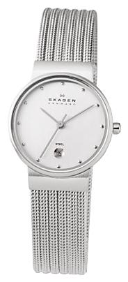 Skagen 355SSS1 - женские наручные часы из коллекции MeshSkagen<br><br><br>Бренд: Skagen<br>Модель: Skagen 355SSS1<br>Артикул: 355SSS1<br>Вариант артикула: None<br>Коллекция: Mesh<br>Подколлекция: None<br>Страна: Дания<br>Пол: женские<br>Тип механизма: кварцевые<br>Механизм: None<br>Количество камней: None<br>Автоподзавод: None<br>Источник энергии: от батарейки<br>Срок службы элемента питания: None<br>Дисплей: стрелки<br>Цифры: отсутствуют<br>Водозащита: WR 30<br>Противоударные: None<br>Материал корпуса: нерж. сталь<br>Материал браслета: не указан<br>Материал безеля: None<br>Стекло: минеральное<br>Антибликовое покрытие: None<br>Цвет корпуса: None<br>Цвет браслета: None<br>Цвет циферблата: None<br>Цвет безеля: None<br>Размеры: 26x26 мм<br>Диаметр: None<br>Диаметр корпуса: None<br>Толщина: None<br>Ширина ремешка: None<br>Вес: None<br>Спорт-функции: None<br>Подсветка: None<br>Вставка: None<br>Отображение даты: число<br>Хронограф: None<br>Таймер: None<br>Термометр: None<br>Хронометр: None<br>GPS: None<br>Радиосинхронизация: None<br>Барометр: None<br>Скелетон: None<br>Дополнительная информация: None<br>Дополнительные функции: None