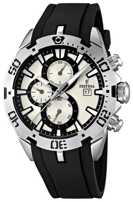 Festina F16672.1 - мужские наручные часы из коллекции SportFestina<br><br><br>Бренд: Festina<br>Модель: Festina F16672/1<br>Артикул: F16672.1<br>Вариант артикула: None<br>Коллекция: Sport<br>Подколлекция: None<br>Страна: Испания<br>Пол: мужские<br>Тип механизма: кварцевые<br>Механизм: None<br>Количество камней: None<br>Автоподзавод: None<br>Источник энергии: от батарейки<br>Срок службы элемента питания: None<br>Дисплей: стрелки<br>Цифры: отсутствуют<br>Водозащита: WR 100<br>Противоударные: None<br>Материал корпуса: нерж. сталь<br>Материал браслета: каучук<br>Материал безеля: None<br>Стекло: минеральное<br>Антибликовое покрытие: None<br>Цвет корпуса: None<br>Цвет браслета: None<br>Цвет циферблата: None<br>Цвет безеля: None<br>Размеры: 44x13.8 мм<br>Диаметр: None<br>Диаметр корпуса: None<br>Толщина: None<br>Ширина ремешка: None<br>Вес: 112 г<br>Спорт-функции: секундомер<br>Подсветка: стрелок<br>Вставка: None<br>Отображение даты: число<br>Хронограф: есть<br>Таймер: None<br>Термометр: None<br>Хронометр: None<br>GPS: None<br>Радиосинхронизация: None<br>Барометр: None<br>Скелетон: None<br>Дополнительная информация: None<br>Дополнительные функции: None