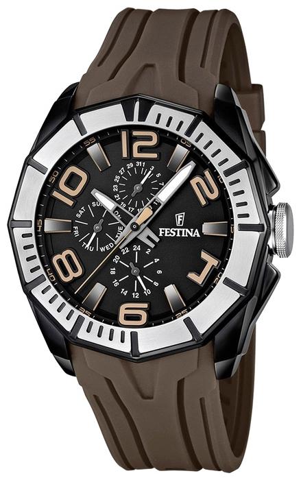 Festina F16670.2 - мужские наручные часы из коллекции SportFestina<br><br><br>Бренд: Festina<br>Модель: Festina F16670/2<br>Артикул: F16670.2<br>Вариант артикула: None<br>Коллекция: Sport<br>Подколлекция: None<br>Страна: Испания<br>Пол: мужские<br>Тип механизма: кварцевые<br>Механизм: None<br>Количество камней: None<br>Автоподзавод: None<br>Источник энергии: от батарейки<br>Срок службы элемента питания: None<br>Дисплей: стрелки<br>Цифры: арабские<br>Водозащита: WR 100<br>Противоударные: None<br>Материал корпуса: нерж. сталь, PVD покрытие (частичное)<br>Материал браслета: каучук<br>Материал безеля: None<br>Стекло: минеральное<br>Антибликовое покрытие: None<br>Цвет корпуса: None<br>Цвет браслета: None<br>Цвет циферблата: None<br>Цвет безеля: None<br>Размеры: 48x14.5 мм<br>Диаметр: None<br>Диаметр корпуса: None<br>Толщина: None<br>Ширина ремешка: None<br>Вес: 119 г<br>Спорт-функции: None<br>Подсветка: стрелок<br>Вставка: None<br>Отображение даты: число, день недели<br>Хронограф: None<br>Таймер: None<br>Термометр: None<br>Хронометр: None<br>GPS: None<br>Радиосинхронизация: None<br>Барометр: None<br>Скелетон: None<br>Дополнительная информация: None<br>Дополнительные функции: None