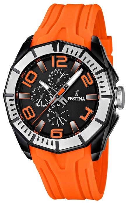 Festina F16670.6 - мужские наручные часы из коллекции SportFestina<br><br><br>Бренд: Festina<br>Модель: Festina F16670/6<br>Артикул: F16670.6<br>Вариант артикула: None<br>Коллекция: Sport<br>Подколлекция: None<br>Страна: Испания<br>Пол: мужские<br>Тип механизма: кварцевые<br>Механизм: None<br>Количество камней: None<br>Автоподзавод: None<br>Источник энергии: от батарейки<br>Срок службы элемента питания: None<br>Дисплей: стрелки<br>Цифры: арабские<br>Водозащита: WR 100<br>Противоударные: None<br>Материал корпуса: нерж. сталь, PVD покрытие (частичное)<br>Материал браслета: каучук<br>Материал безеля: None<br>Стекло: минеральное<br>Антибликовое покрытие: None<br>Цвет корпуса: None<br>Цвет браслета: None<br>Цвет циферблата: None<br>Цвет безеля: None<br>Размеры: 48x14.5 мм<br>Диаметр: None<br>Диаметр корпуса: None<br>Толщина: None<br>Ширина ремешка: None<br>Вес: 119 г<br>Спорт-функции: None<br>Подсветка: стрелок<br>Вставка: None<br>Отображение даты: число, день недели<br>Хронограф: None<br>Таймер: None<br>Термометр: None<br>Хронометр: None<br>GPS: None<br>Радиосинхронизация: None<br>Барометр: None<br>Скелетон: None<br>Дополнительная информация: None<br>Дополнительные функции: None