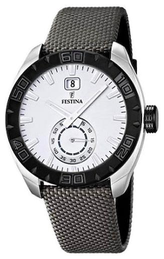 Festina F16674.1 - мужские наручные часы из коллекции SportFestina<br><br><br>Бренд: Festina<br>Модель: Festina F16674/1<br>Артикул: F16674.1<br>Вариант артикула: None<br>Коллекция: Sport<br>Подколлекция: None<br>Страна: Испания<br>Пол: мужские<br>Тип механизма: кварцевые<br>Механизм: None<br>Количество камней: None<br>Автоподзавод: None<br>Источник энергии: от батарейки<br>Срок службы элемента питания: None<br>Дисплей: стрелки<br>Цифры: отсутствуют<br>Водозащита: WR 30<br>Противоударные: None<br>Материал корпуса: нерж. сталь<br>Материал браслета: нерж. сталь<br>Материал безеля: None<br>Стекло: минеральное<br>Антибликовое покрытие: None<br>Цвет корпуса: None<br>Цвет браслета: None<br>Цвет циферблата: None<br>Цвет безеля: None<br>Размеры: None<br>Диаметр: None<br>Диаметр корпуса: None<br>Толщина: None<br>Ширина ремешка: None<br>Вес: None<br>Спорт-функции: None<br>Подсветка: стрелок<br>Вставка: None<br>Отображение даты: число<br>Хронограф: None<br>Таймер: None<br>Термометр: None<br>Хронометр: None<br>GPS: None<br>Радиосинхронизация: None<br>Барометр: None<br>Скелетон: None<br>Дополнительная информация: None<br>Дополнительные функции: None