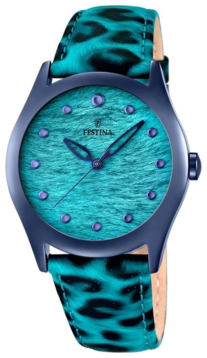 Festina F16649.3 - женские наручные часы из коллекции LadyFestina<br><br><br>Бренд: Festina<br>Модель: Festina F16649/3<br>Артикул: F16649.3<br>Вариант артикула: None<br>Коллекция: Lady<br>Подколлекция: None<br>Страна: Испания<br>Пол: женские<br>Тип механизма: кварцевые<br>Механизм: Miyota<br>Количество камней: None<br>Автоподзавод: None<br>Источник энергии: от батарейки<br>Срок службы элемента питания: None<br>Дисплей: стрелки<br>Цифры: отсутствуют<br>Водозащита: WR 50<br>Противоударные: None<br>Материал корпуса: нерж. сталь, PVD покрытие (полное)<br>Материал браслета: кожа<br>Материал безеля: None<br>Стекло: минеральное<br>Антибликовое покрытие: None<br>Цвет корпуса: None<br>Цвет браслета: None<br>Цвет циферблата: None<br>Цвет безеля: None<br>Размеры: 36 мм<br>Диаметр: None<br>Диаметр корпуса: None<br>Толщина: None<br>Ширина ремешка: None<br>Вес: None<br>Спорт-функции: None<br>Подсветка: None<br>Вставка: None<br>Отображение даты: None<br>Хронограф: None<br>Таймер: None<br>Термометр: None<br>Хронометр: None<br>GPS: None<br>Радиосинхронизация: None<br>Барометр: None<br>Скелетон: None<br>Дополнительная информация: элемент питания SR626SW, срок службы батарейки 3 года<br>Дополнительные функции: None