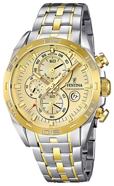 Festina F16655.2 - мужские наручные часы из коллекции Crono Acero Sin AlarmaFestina<br><br><br>Бренд: Festina<br>Модель: Festina F16655/2<br>Артикул: F16655.2<br>Вариант артикула: None<br>Коллекция: Crono Acero Sin Alarma<br>Подколлекция: None<br>Страна: Испания<br>Пол: мужские<br>Тип механизма: кварцевые<br>Механизм: Miyota<br>Количество камней: None<br>Автоподзавод: None<br>Источник энергии: от батарейки<br>Срок службы элемента питания: None<br>Дисплей: стрелки<br>Цифры: отсутствуют<br>Водозащита: WR 100<br>Противоударные: None<br>Материал корпуса: нерж. сталь, PVD покрытие: позолота (частичное)<br>Материал браслета: нерж. сталь, PVD покрытие (частичное): позолота<br>Материал безеля: None<br>Стекло: минеральное<br>Антибликовое покрытие: None<br>Цвет корпуса: None<br>Цвет браслета: None<br>Цвет циферблата: None<br>Цвет безеля: None<br>Размеры: 44.5x13 мм<br>Диаметр: None<br>Диаметр корпуса: None<br>Толщина: None<br>Ширина ремешка: None<br>Вес: None<br>Спорт-функции: секундомер<br>Подсветка: стрелок<br>Вставка: None<br>Отображение даты: число<br>Хронограф: есть<br>Таймер: None<br>Термометр: None<br>Хронометр: None<br>GPS: None<br>Радиосинхронизация: None<br>Барометр: None<br>Скелетон: None<br>Дополнительная информация: None<br>Дополнительные функции: None